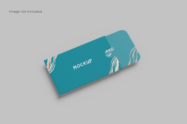 Marvelous card and holder mockup