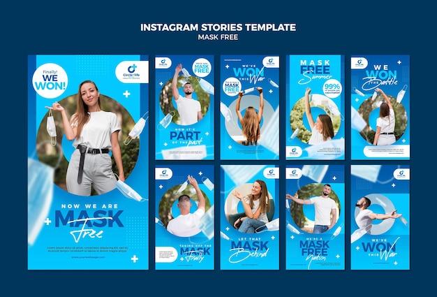 Mask free social media stories