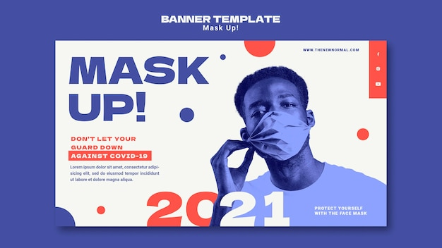 2021 배너 템플릿 마스크