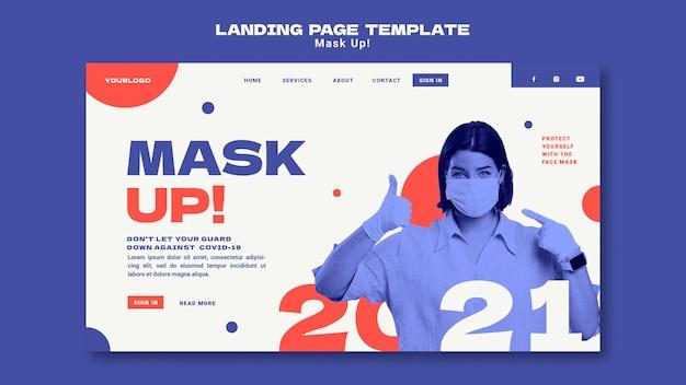 Maschera il modello di pagina di destinazione 2021 Psd Gratuite