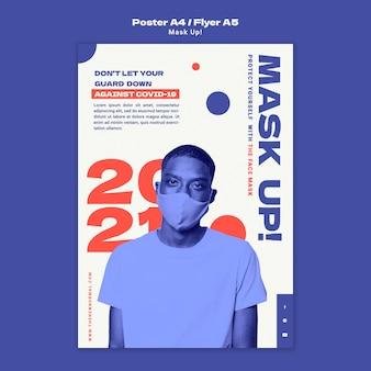 Maschera il modello di poster 2021