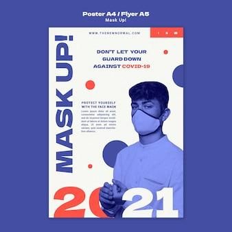 Maschera il modello di poster verticale 2021