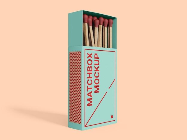 Modello di mockup di scatola di fiammiferi