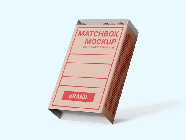 マッチ箱モックアップテンプレート