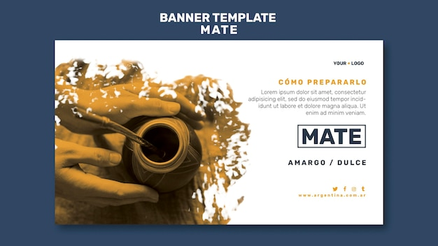 Mate concept banner template
