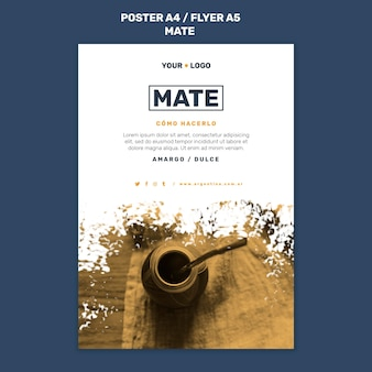 Mate concept flyer template