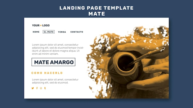 Mate concept landing page template