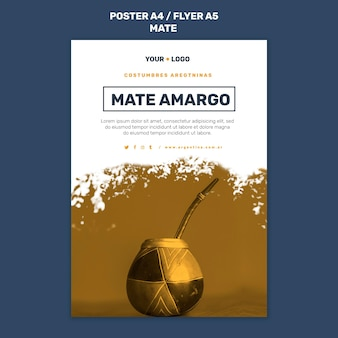 Mate concept poster template