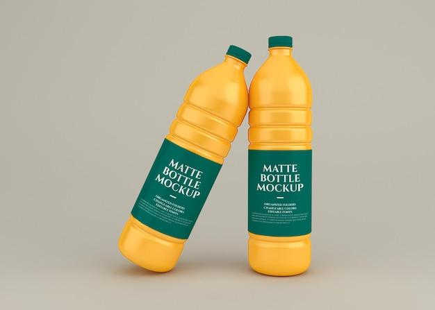 Matte bottle mockup design rendering