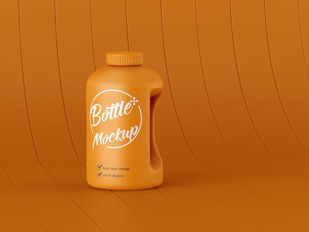 Мокап матовой бутылки