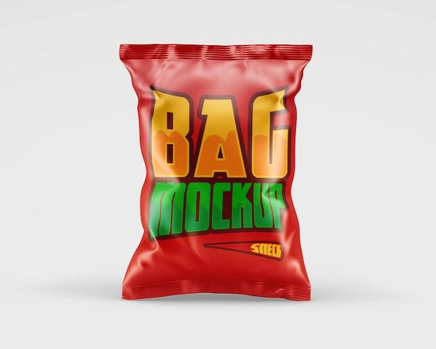Matte chips bag mockup