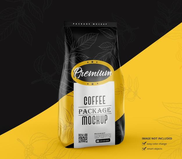 マットコーヒーバッグモックアップデザインレンダリング