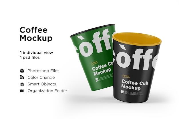 Матовый макет чашки кофе изолированные
