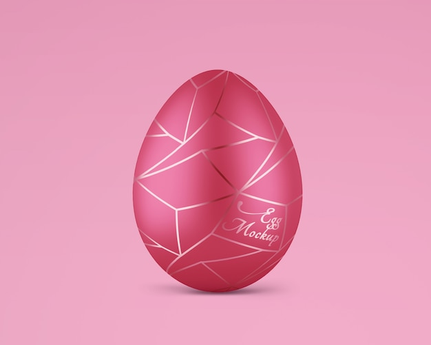 Matte easter egg with rose gold mockup
