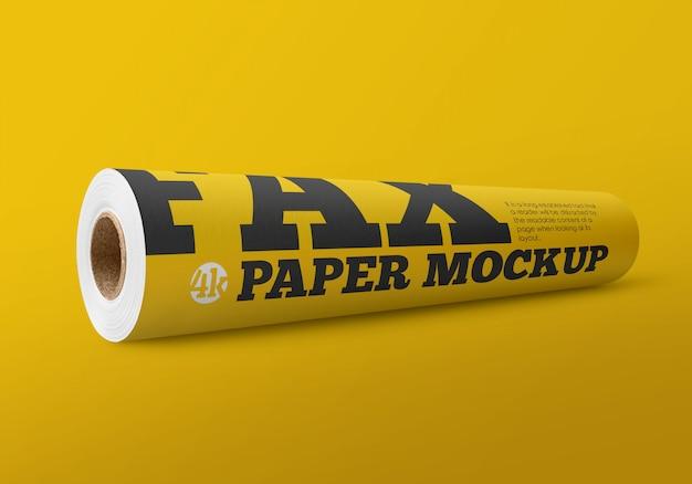 Matte fax paper roll mockup