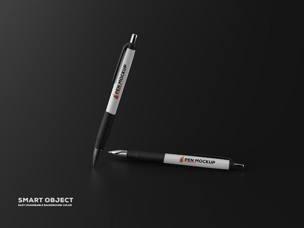 Рендеринг дизайна мокапа матовой ручкой