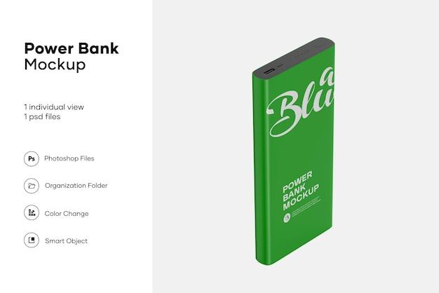 Matte power bank mockup