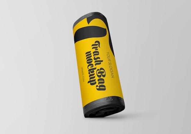 Матовый мусорный мешок макет Premium Psd