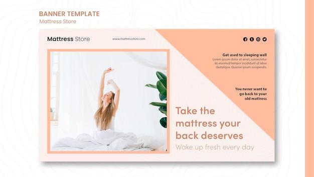 Mattress store template banner
