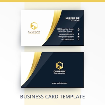 Mature gold professional business card standout