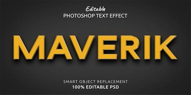 Maverik 편집 가능한 photoshop 텍스트 스타일 효과