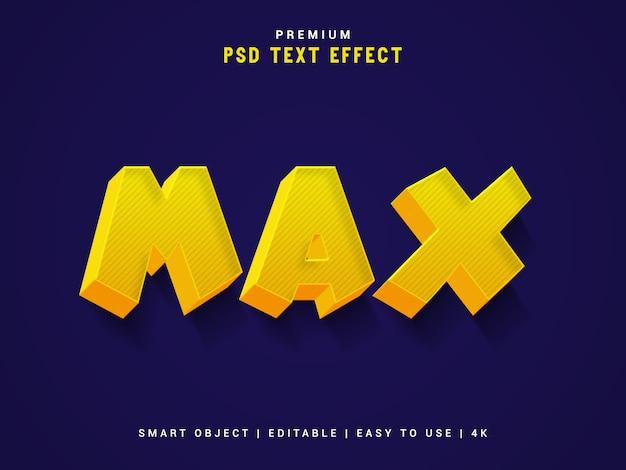 Макс типографский текст эффект maker, 3d шаблон.