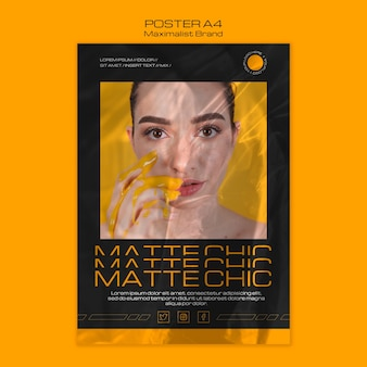 Maximalist brand matte chic poster template