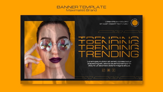 Maximalist brand trending banner template