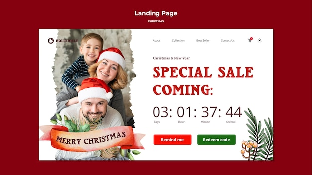 May your christmas be bright and merry landing page
