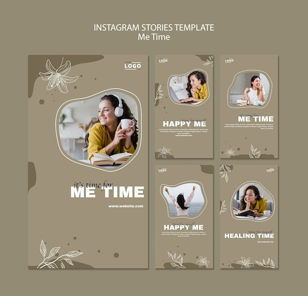 Me time instagram stories template
