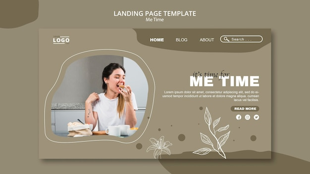 Me time landing page template