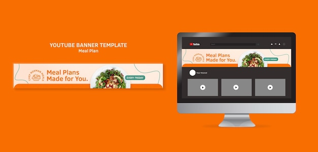 Meal plans youtube banner