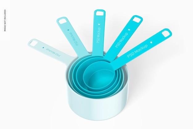 Measuring cups set mockup