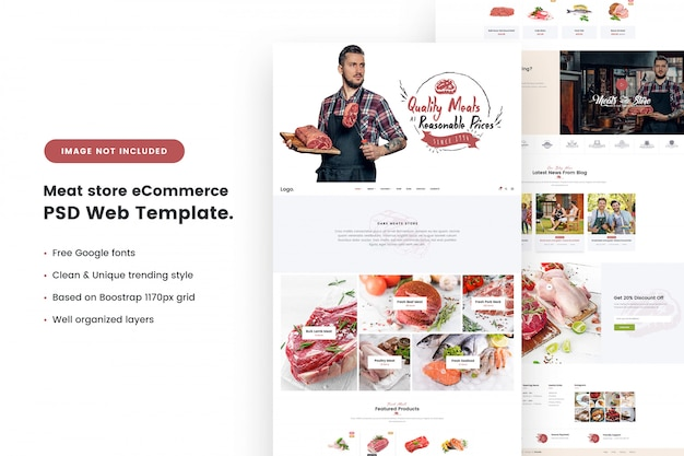 Meat store e-commerce web template