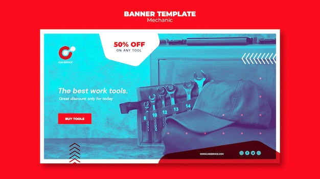Mechanic banner template theme