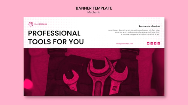 Mechanic banner template
