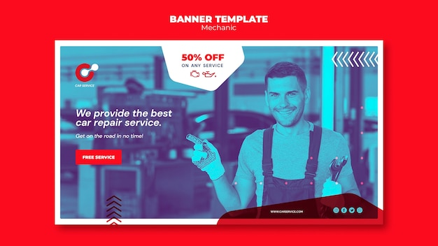 Mechanic banner template