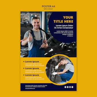 Mechanic business poster template