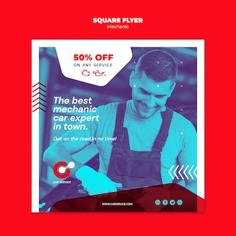 Mechanic flyer template concept