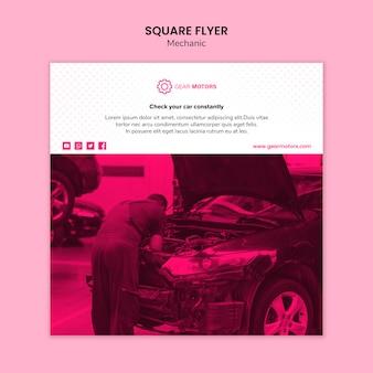 Mechanic flyer template