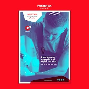Mechanic poster template concept
