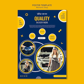 Mechanic shop poster template
