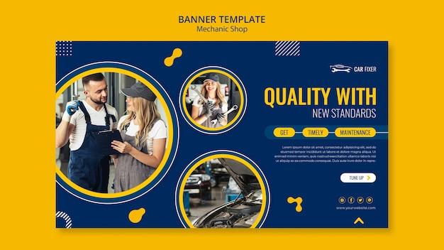 Mechanic shop template banner