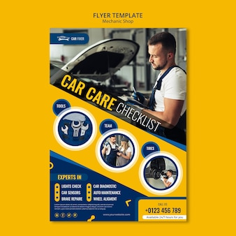 Mechanic shop template flyer