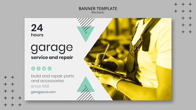 Mechanic theme for banner template