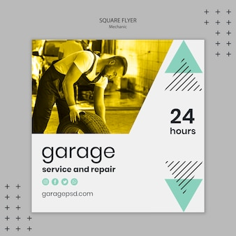 Mechanic theme for flyer template