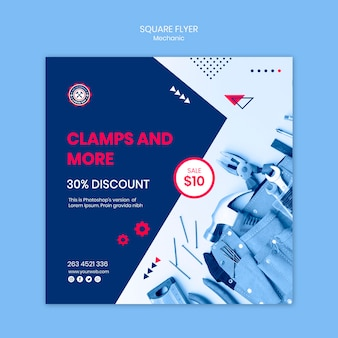 Mechanic theme flyer template