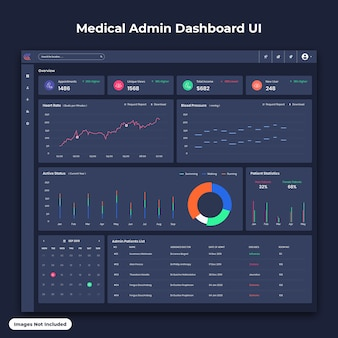 Medical admin dashboard ui dark version