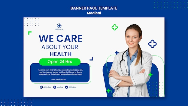 의료 지원 배너 페이지 템플릿