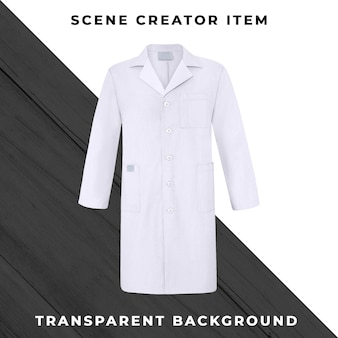 Medical coat isolated with clipping path